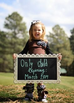 Great idea: An only child expiration date.  @customgrowthgrp #birthannouncement #photo DIY at http://ow.ly/qqn2s