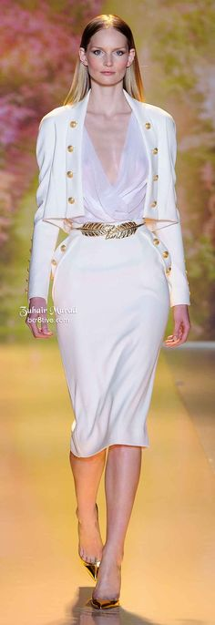WHITE SUIT ... CLASSY FROM; Zuhair Murad Spring 2014 Haute Couture