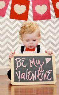 valentines baby photo shoot, chalkboard.