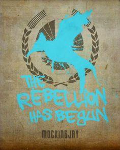 The Hunger Games Mockingjay Minimalist Poster by EntropyTradingCo, $15.00