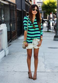 Blouse: Equipment  |  Shorts:  Quiksilver  |  Heels: Madewell  |  Purse: Marc by Marc Jacobs