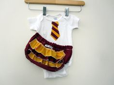 Harry Potter Gryffindor Onesie and Diaper(with or w/o ruffles) Cover! So Cute!