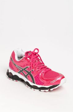 Asics GEL-Nimbus 14 running shoe. The neon pink is hot!