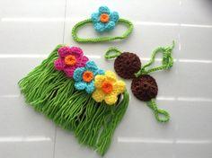Crochet Hawaiian Hula Newborn Photography by CrochetCreationsbyMa, $30.00