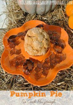 Pumpkin Pie No Cook Playdough by FSPDT