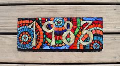House number sign houses, mosaic house numbers, glasses, decks, hous number, house number sign, art, crafti idea, stained glass