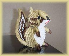 3D Origami – Chipmunk