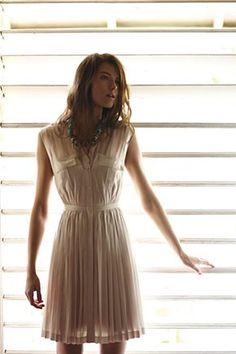anthro quiet blush dress