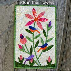 bird, flower wallhang, river