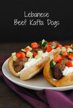 Lebanese Beef Kafta Dogs #WeekdaySupper