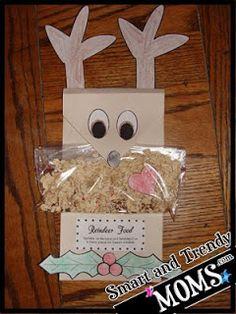 Christmas Kid's Craft – Reindeer Food and Holder + (Printable)