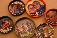artists, canning jars, can lids, frame magnet, picture frames, blog, canning jar rings, canning lid, craft ideas