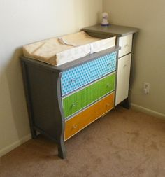 transformed dressers | Leap! ...and the Net Will Appear: Nursery Dresser Transformation