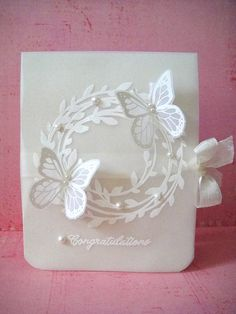 donna mikasa, vellum, butterfli card, butterflies, three umbrella