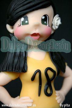 Muñeca personalizada Ingrid 18 años by Dulce decoración (modelado - tartas decoradas), via Flickr