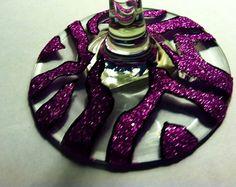 Zebra Pink Glitter Wine Glasses by KashforKollege on Etsy, $15.00