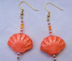 Autumn Orange Short Dangle Earrings/ Orange by LittleGemsandMore, $10.00
