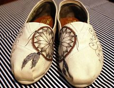 Get a pair of shoes,customize them and make them one of a kind.DIY Toms.