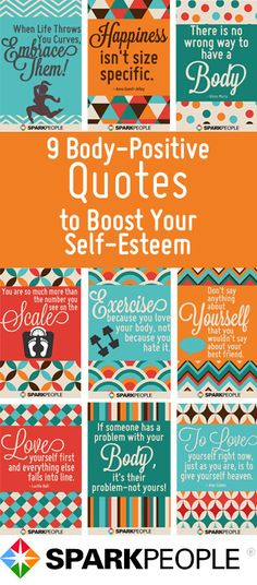 Love yo'self (and your unique body) with these positive body quotes! | via @SparkPeople #motivation #inspiration #bodyimage #beauty  #weight