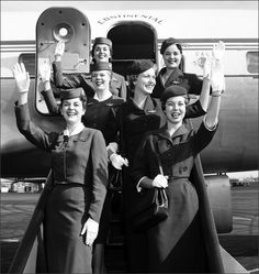 Flying fashions of Continental Airlines 1958