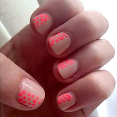 Nude Neon Nails