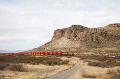 Union Pacific locomotives pulling freight containers up Steins Pass in southwestern New Mexico. The pass was named after United States Army Major Enoch Steen, who camped nearby in 185    Read more: http://www.dailymail.co.uk/news/article-2182753/Stagecoaches-outhouses-general-stores-Inside-preserved-American-ghost-town-left-untouched-70-years.html#ixzz22Qlp7lwl