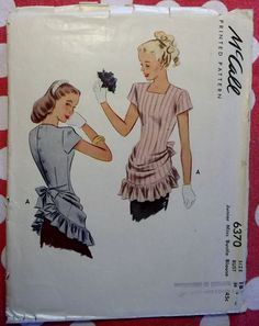 Vintage 40s Sewing Pattern McCall 6370 Junior Miss by DotisSpot, $59.50