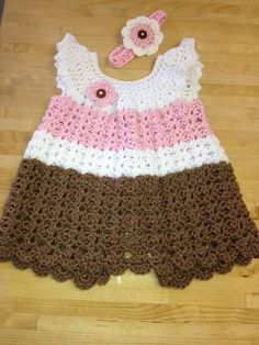 Crochet Pinafore Dress by CROCHETCRAFTYGIFTS on Etsy, $20.00
