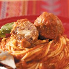 Pizza Meatballs Recipe from Taste of Home -- shared by Kim Kanatzar of Blue Springs, Missouri
