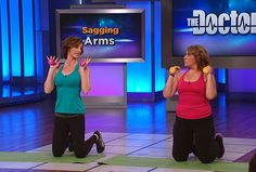 Fitness and lifestyle consultant Ashley Borden demonstrates the best at-home exercises to tighten flabby arms.