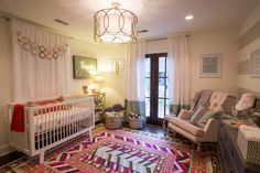 Project Nursery - Contemporary Eclectic Girl Nursery Room View