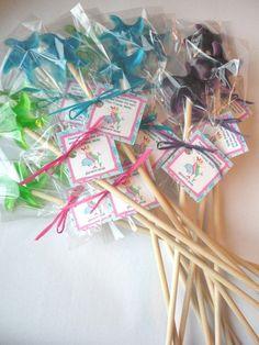 15 Mermaid Party Favors Starfish Magic Glycerin Soap Wands. $21.00, via Etsy.