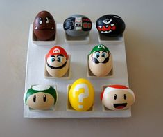 holiday, craft, stuff, super mario brothers, decorating ideas, boiled eggs, egg decorating, easter eggs, super mario bros