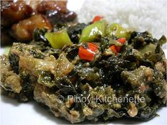Bicolano Laing ~ Pinoy Kitchenette