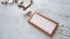 Locket Double Glass Antiqued Copper Embroidered by daydreamjewels,