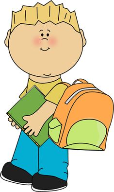 Boy going to school from MyCuteGraphics school clip, clip artkid, awesom clipart, imagen infantil, school kids, imag école, graphics, preescolar clipart, kid clip