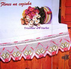 Crochet Artesanato Tricô: Amarrando a borda do gancho. Idéias interessantes com diagramas