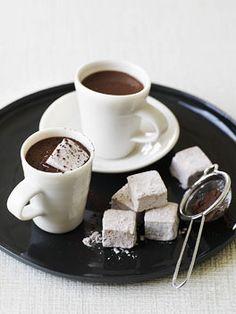 Hot chocolate with chocolate marshmellows