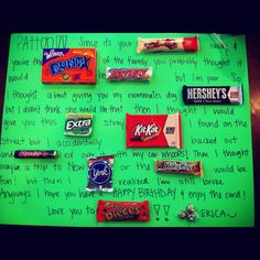 Candy bar poems on Pinterest | Candy Cards, Candy Sayings and Candy ...