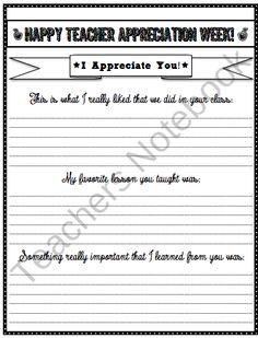 classroom idea, counsel idea, teacher notebook, letter, teacher gift