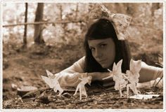 Photo shoot inspired by the Cottingley fairies