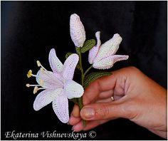 lily crochet flowers photos tutorial
