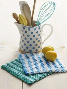 Basic Striped Dishcloth ~ free pattern
