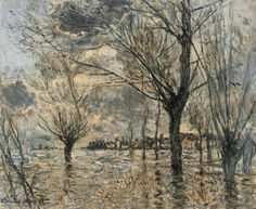 Claude Monet, The flood at Vetheuil
