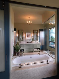 Modern Bathroom with Sprays & Rain head Fixture : Designers' Portfolio : HGTV - Home & Garden Television
