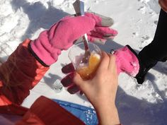 The Full Plate Blog: snow day activities - snow candy