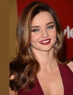 Miranda Kerr at Golden Globes 2013: Statement Lips | ELLE UK