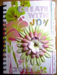 Altered Calendar / Planner Tutorial at Create With Joy: http://www.create-with-joy.com/2012/01/woyww-altered-calendar-tutorial.html #Creativity #Crafts #PaperCrafts #Handmade