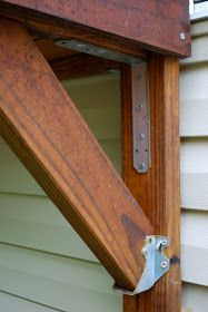 DIY: Catio support brackets for secure outdoor cat enclosure construction. High wind hurricane support.