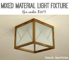 Tutorial - DIY mixed material light fixture with ProBond
